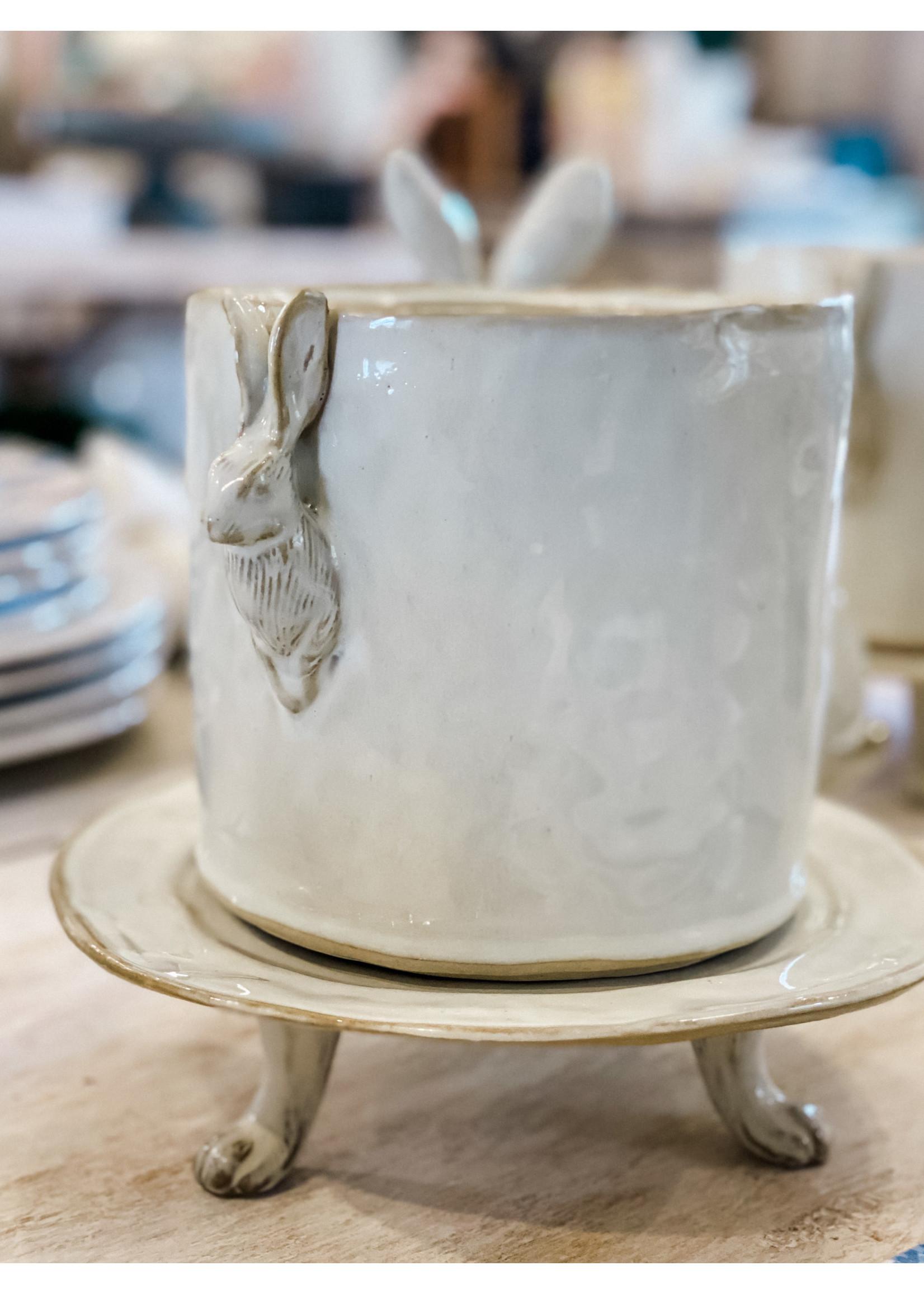 Yarnnakarn Rabbit Small Pot and Tray