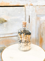 Match Bottle - Apothecary - Calligraphy - Large