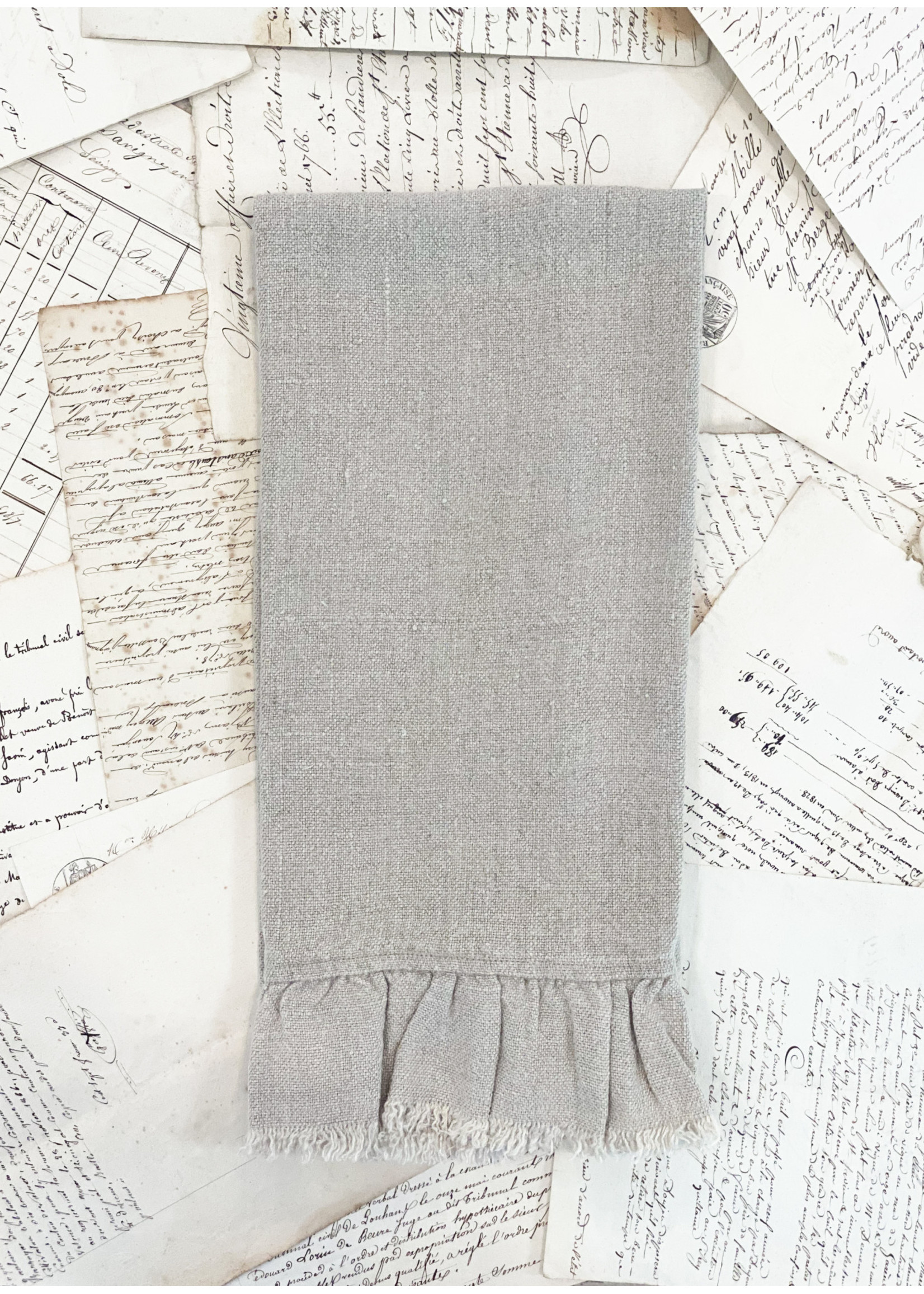 Crown Linen Tea Towel - Provence - Flax