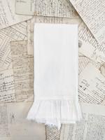 Crown Linen Tea Towel - Provence - White