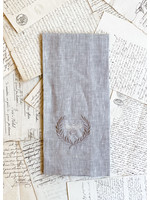 Crown Linen Towel - Bumble Bee - Flax
