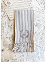 Crown Linen Towel - Bumble Bee - Stripe - Ruffle