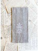 Crown Linen Towel - Royal - Flax