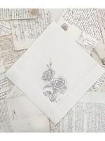 Crown Linen Large Napkin - Giulietta Flower - Cream (Taupe)