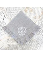 Crown Linen Napkin - Damask - Flax - Ruffle