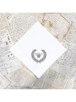 Crown Linen Napkin - Bumble Bee - White