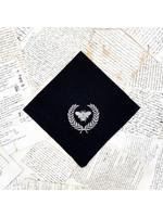 Crown Linen Napkin - Bumble Bee - Black