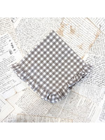 Crown Linen Napkin - Checkered - Ruffle