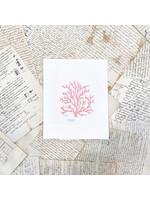 Crown Linen Trifold Napkin - Coral