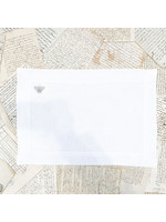 Crown Linen Placemat - Bumble Bee - White