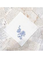 Crown Linen Napkin Large - Giulietta Flower - Cream /French Blue