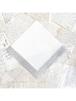 Crown Linen Large Napkin - Cream with Flax Frame