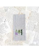 Crown Linen Tea Towel - Herbs - Flax
