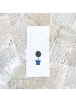 Crown Linen Tea Towel - Topiary