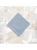 Busatti Napkin - Zodiaco 320 - Woad Blue with Hemstitch