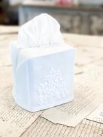 Henry Handwork Tissue Box Cover - Jardin White