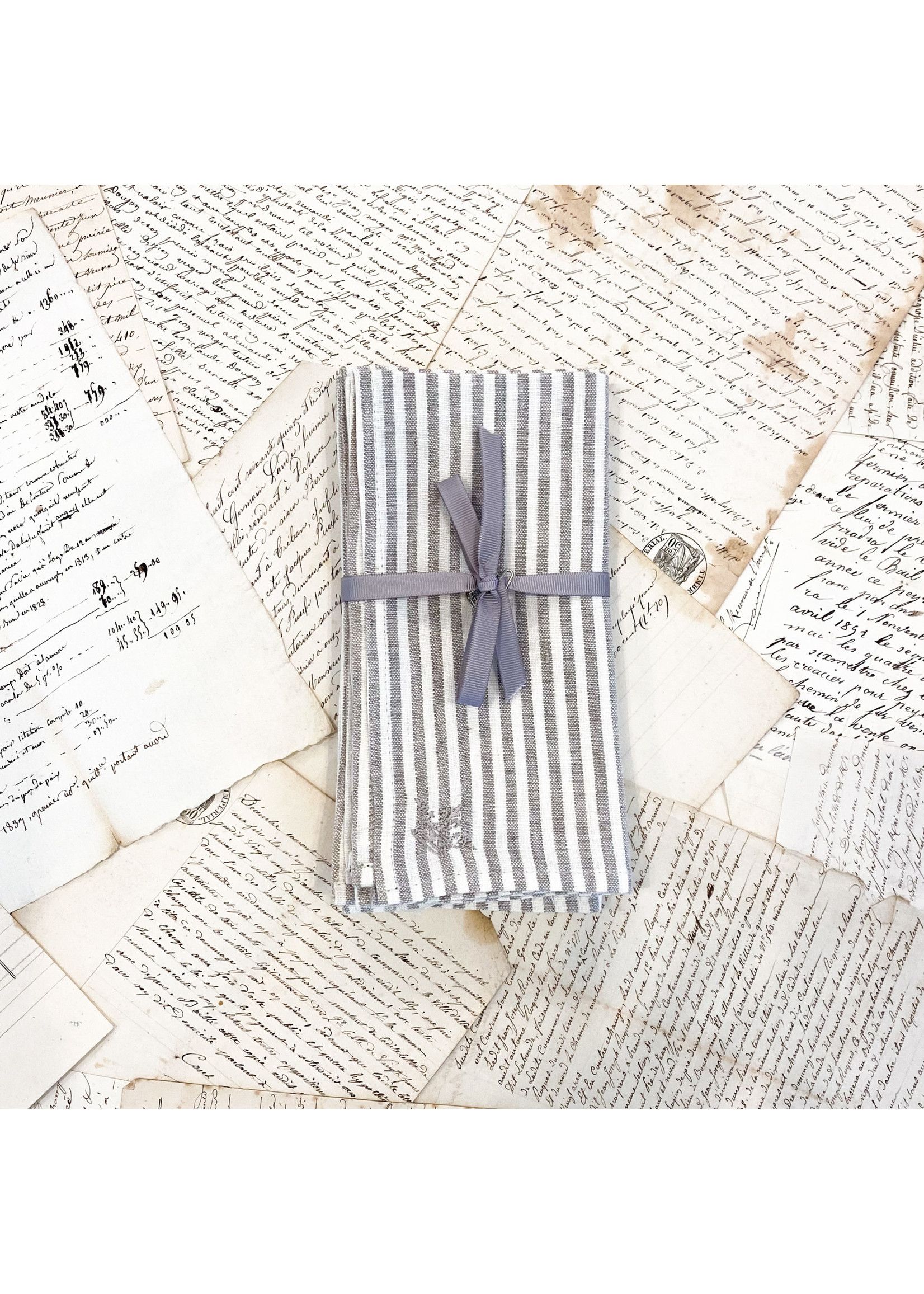 Crown Linen Napkin Luncheonette - Stripe (Set of 4)