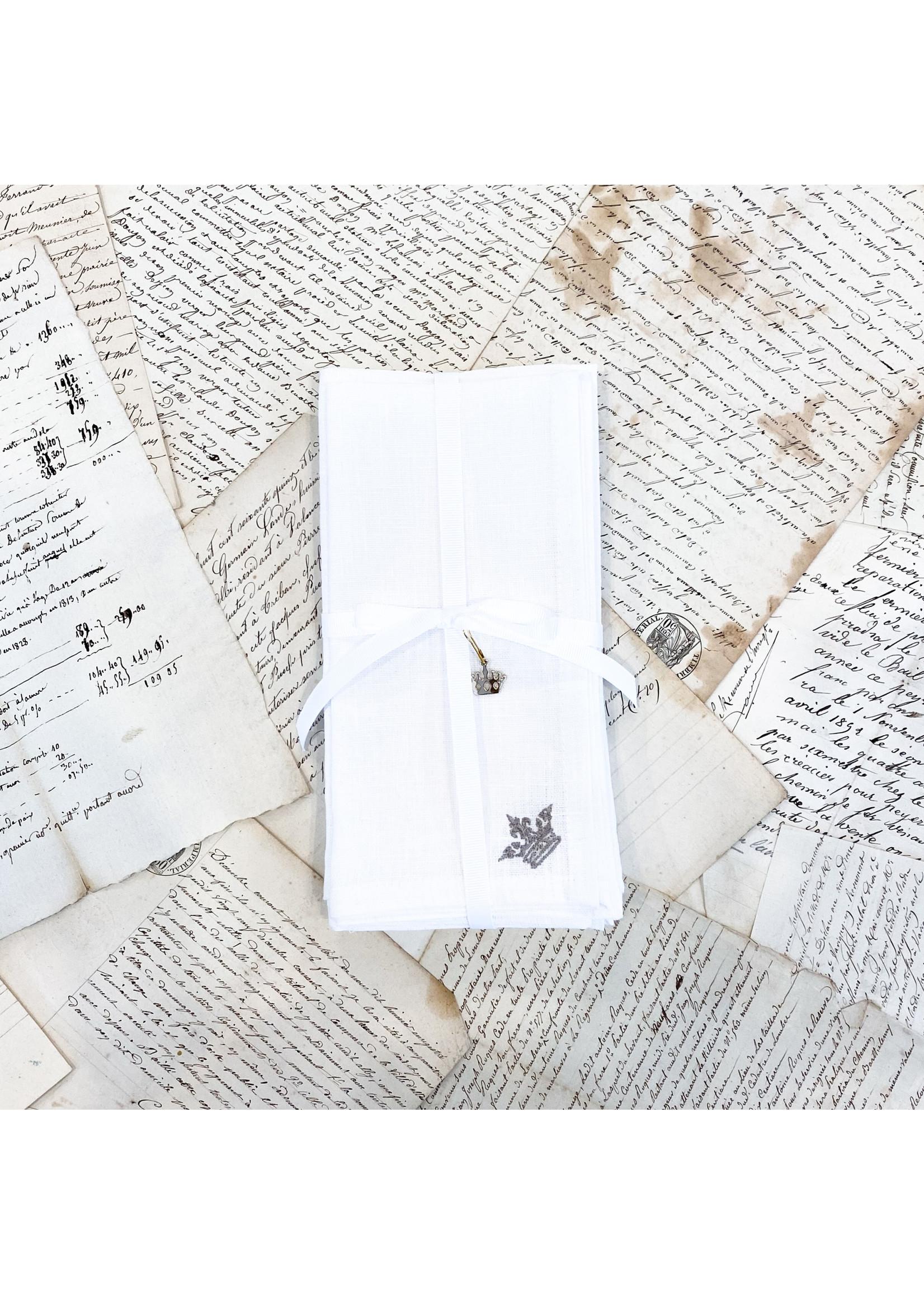 Crown Linen Napkin Luncheonette - White (Set of 4)