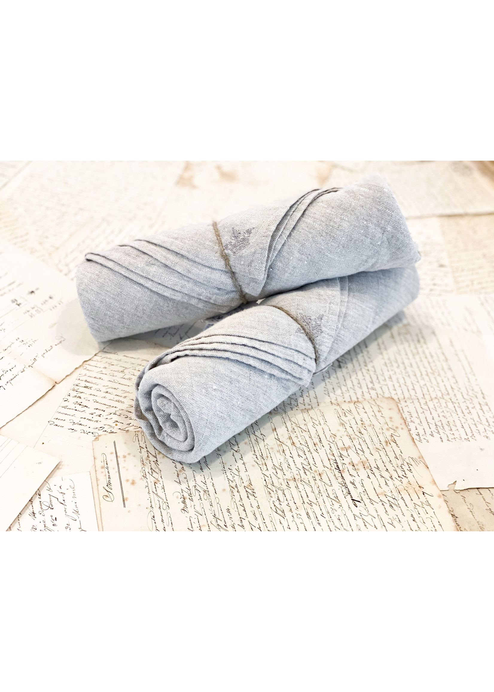Crown Linen Washed Linen Napkin - Flax (Set of 4)