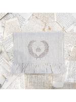 "Crown Linen Runner - Bumble Bee - Stripe - Ruffle - 108"""