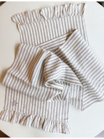 "Crown Linen Runner - Plain - Stripe - Ruffle - 108"""