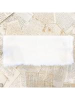 """Crown Linen Provence Fringe Runner - White - 90"""""""