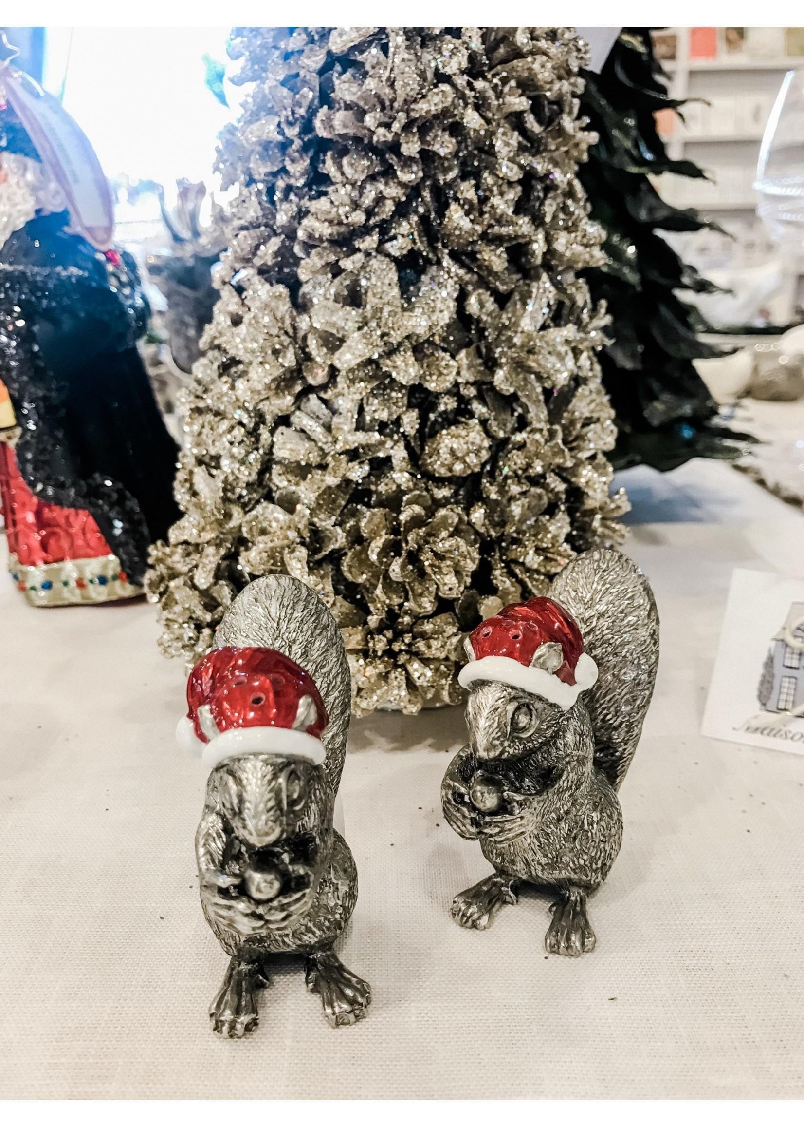 Salt & Pepper Set - Santa Squirrels