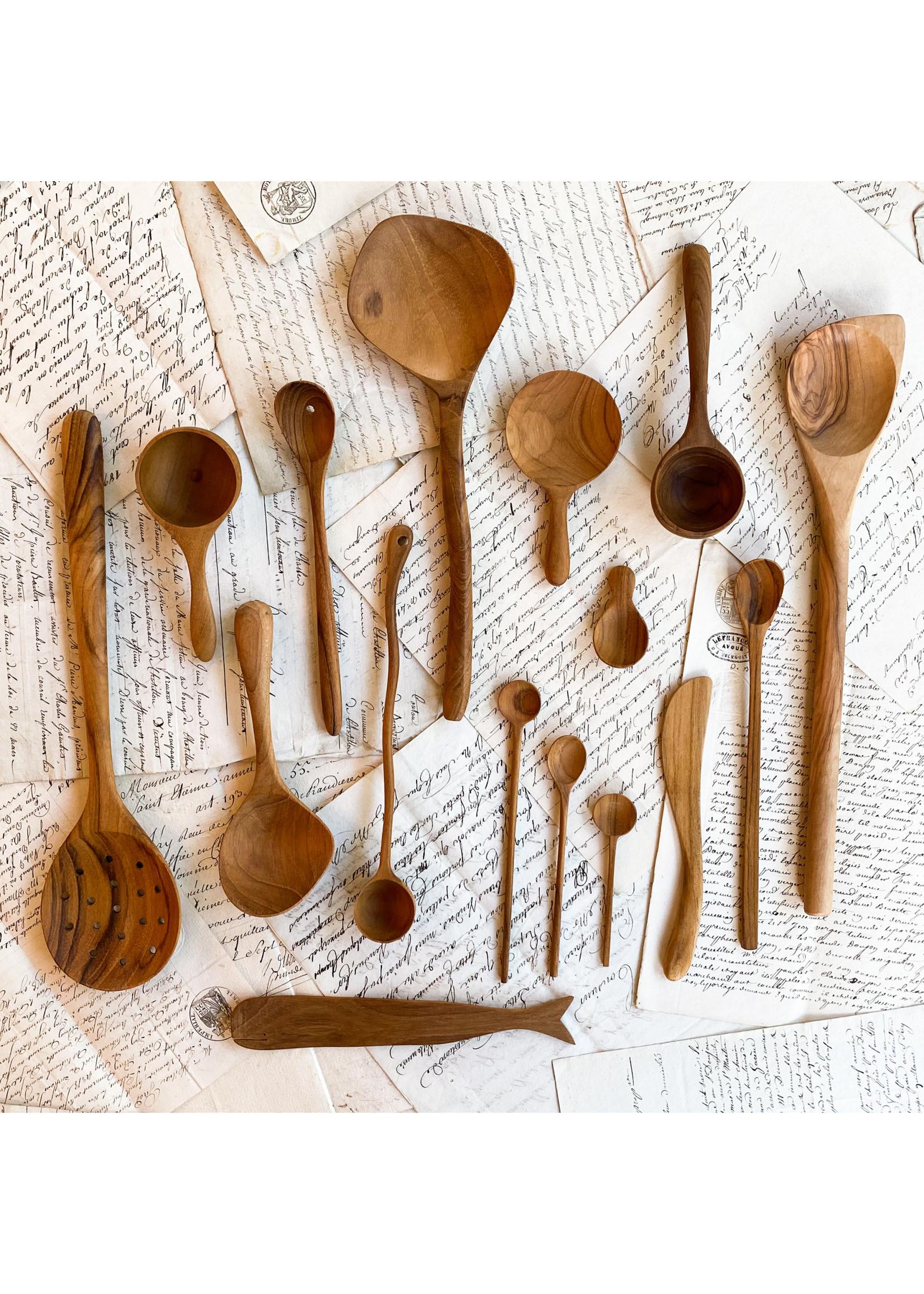 Teak - Spoon - Strainer