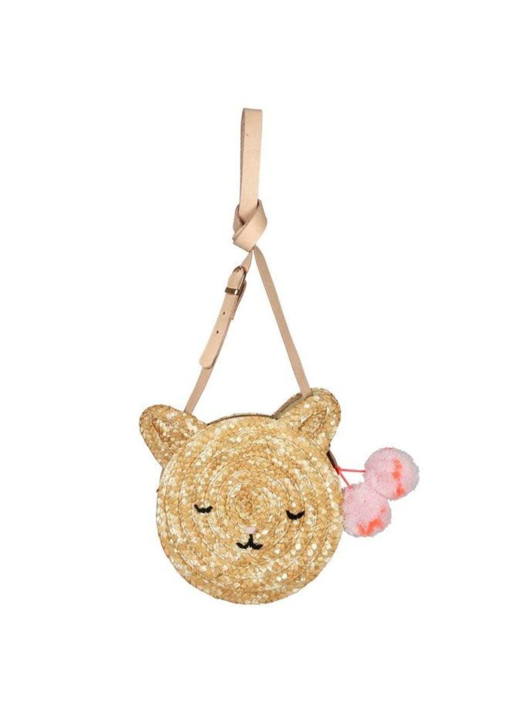 Meri Meri Cat Cross Body Straw Bag