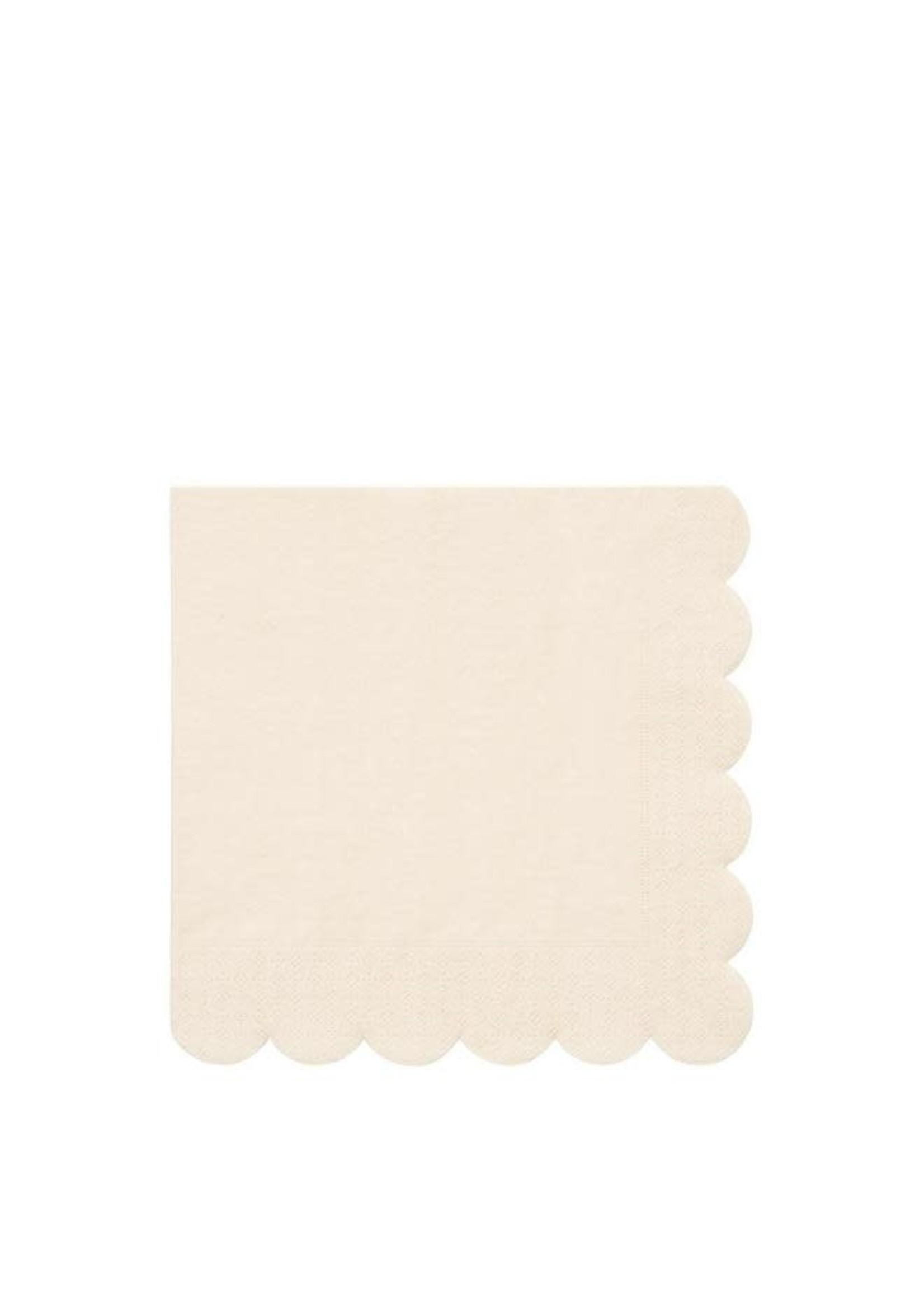 Meri Meri Paper Napkin - Cream Large