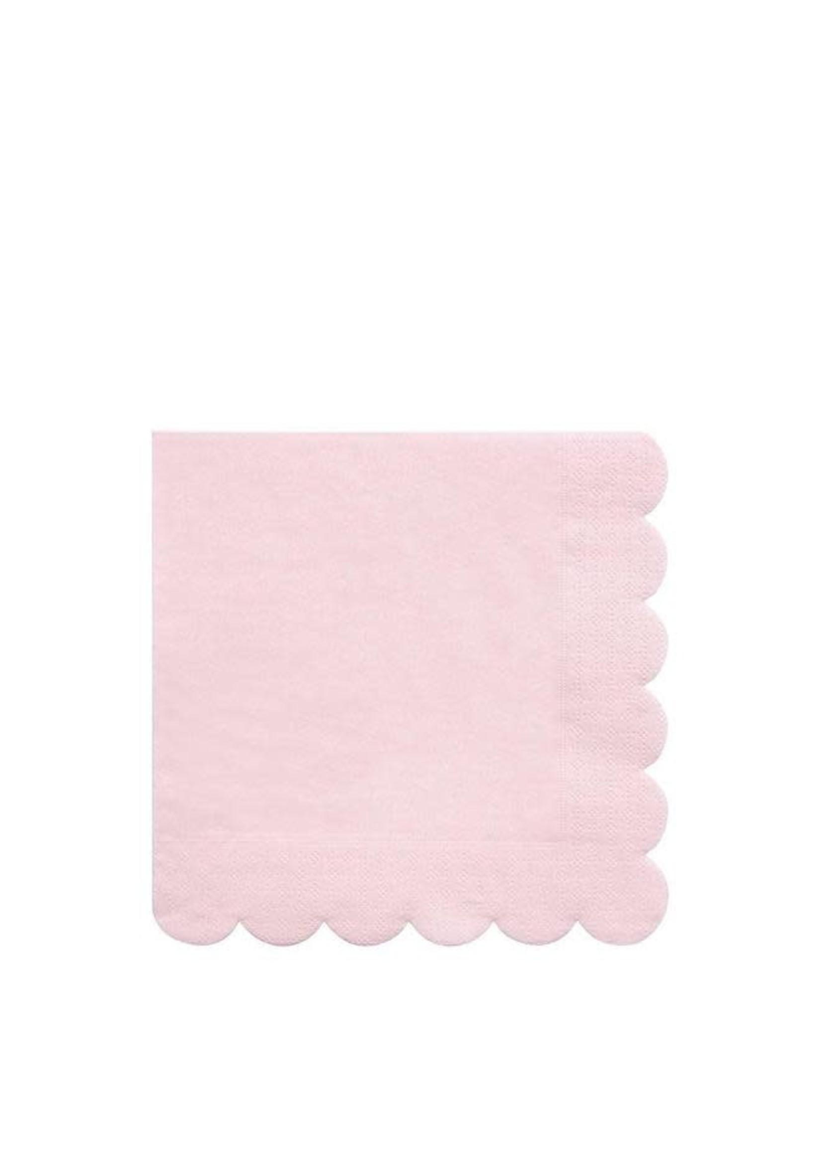 Meri Meri Paper Napkin - Pale Pink Large