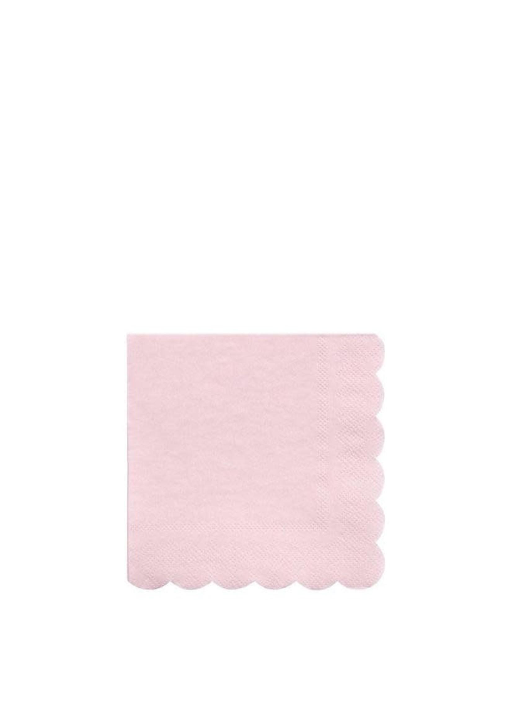 Meri Meri Paper Napkin - Pale Pink Small