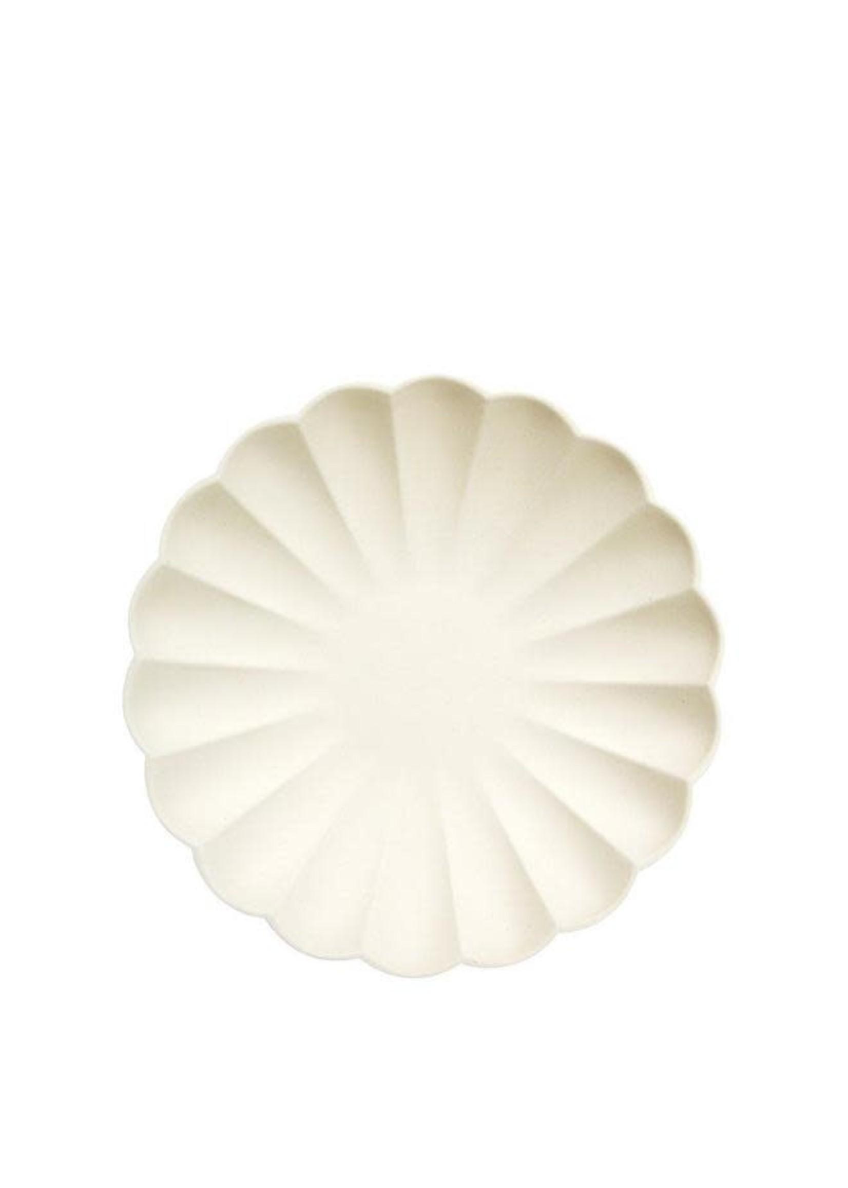 Meri Meri Paper Plates - Cream Small