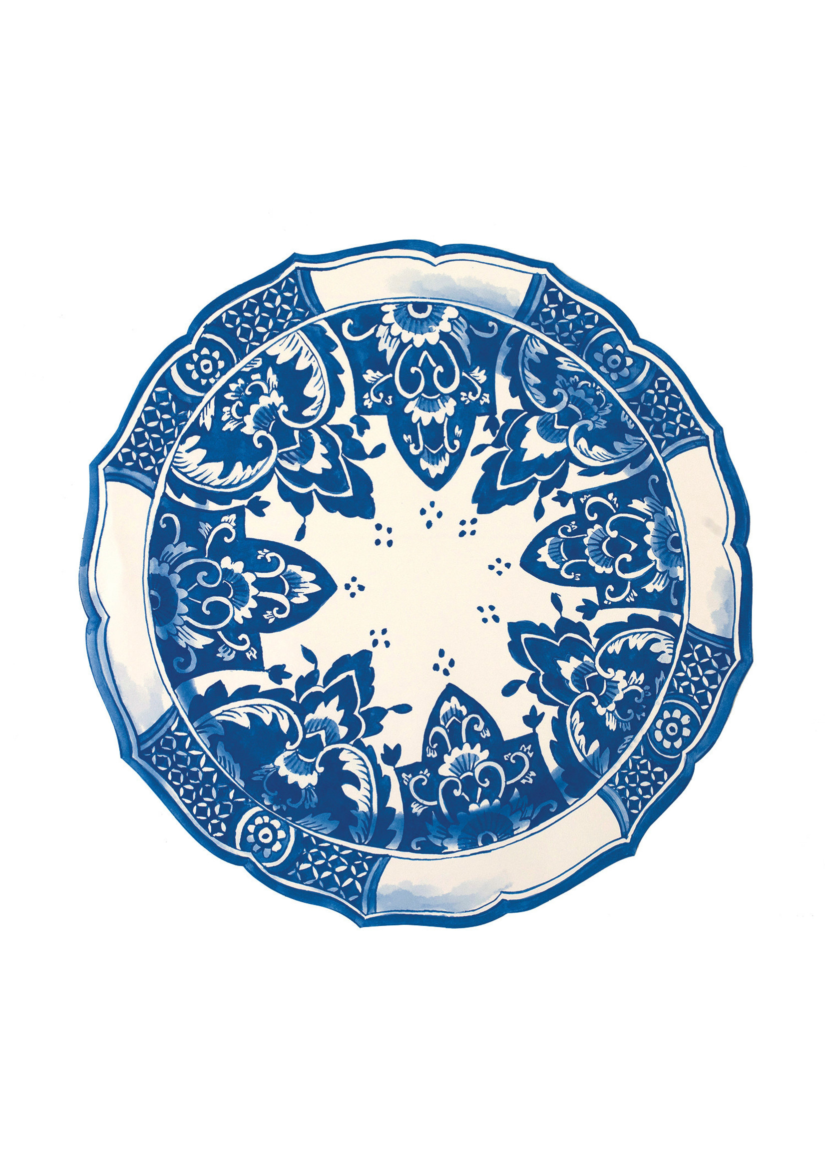 Hester & Cook Paper Placemats - China Blue (12 sheets)