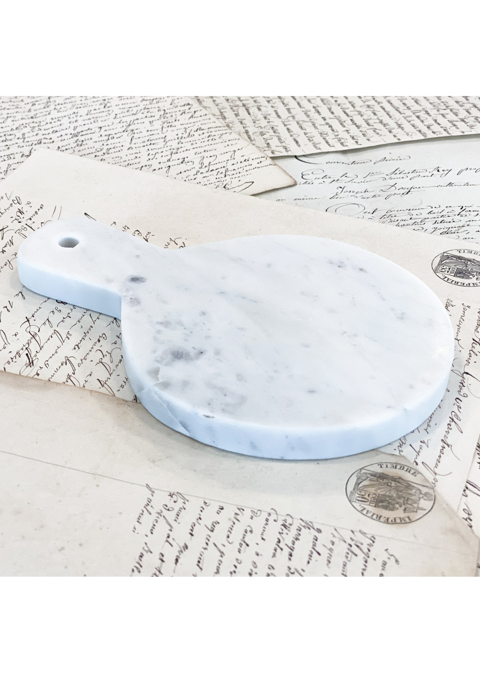 Marble - Mini Cheese Board with Handle Round