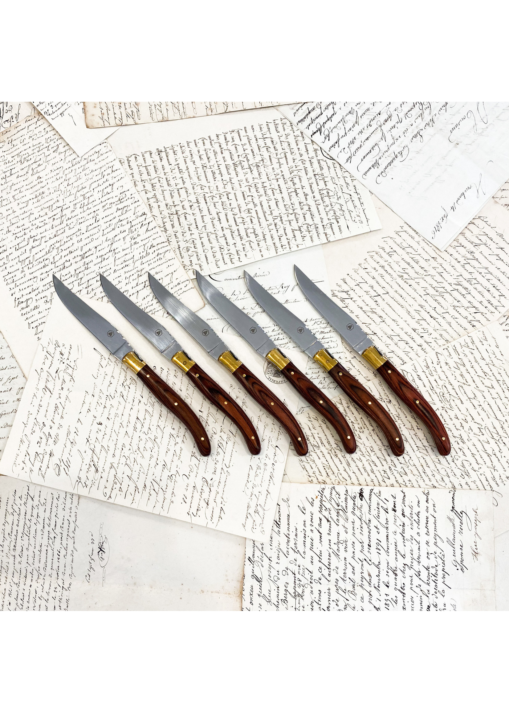 Laguiole Knives - Golden Bee (set of 6)