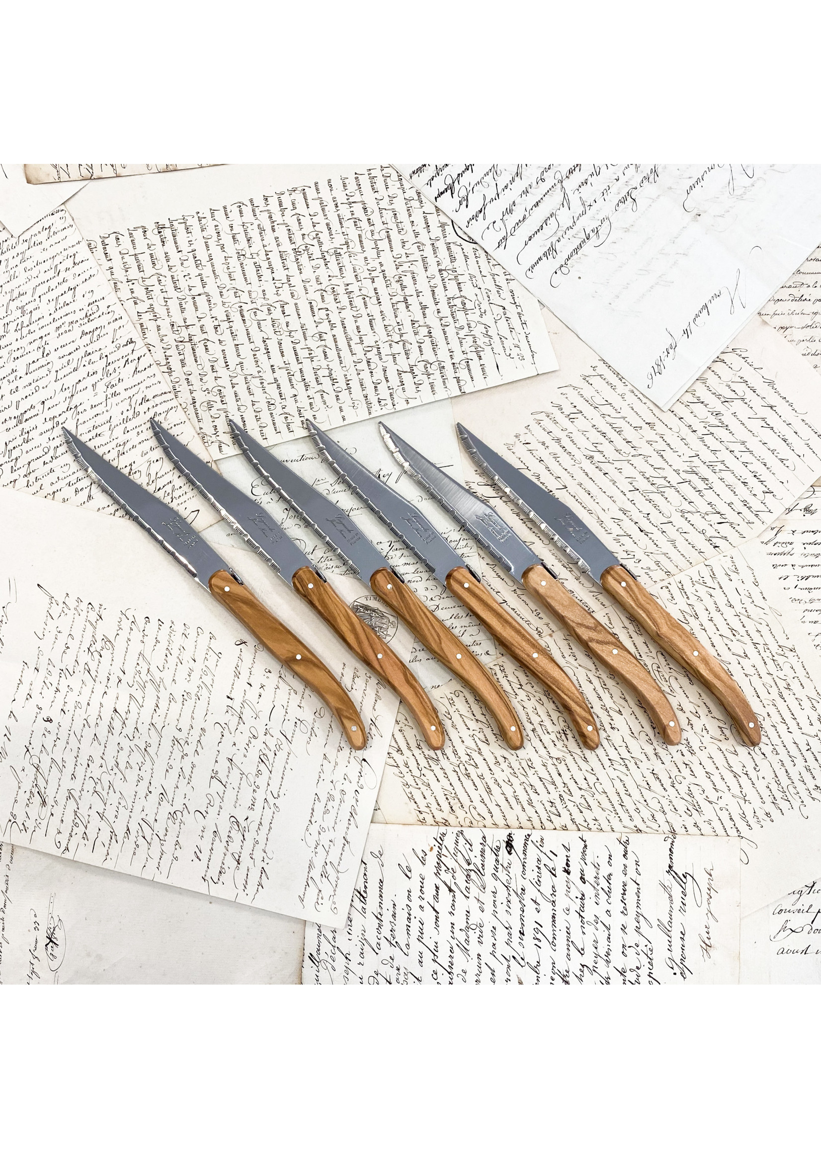 Laguiole Knives - Olivewood (set of 6)