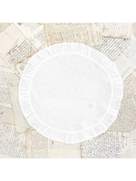 Crown Linen Placemat - Round Ruffle - White