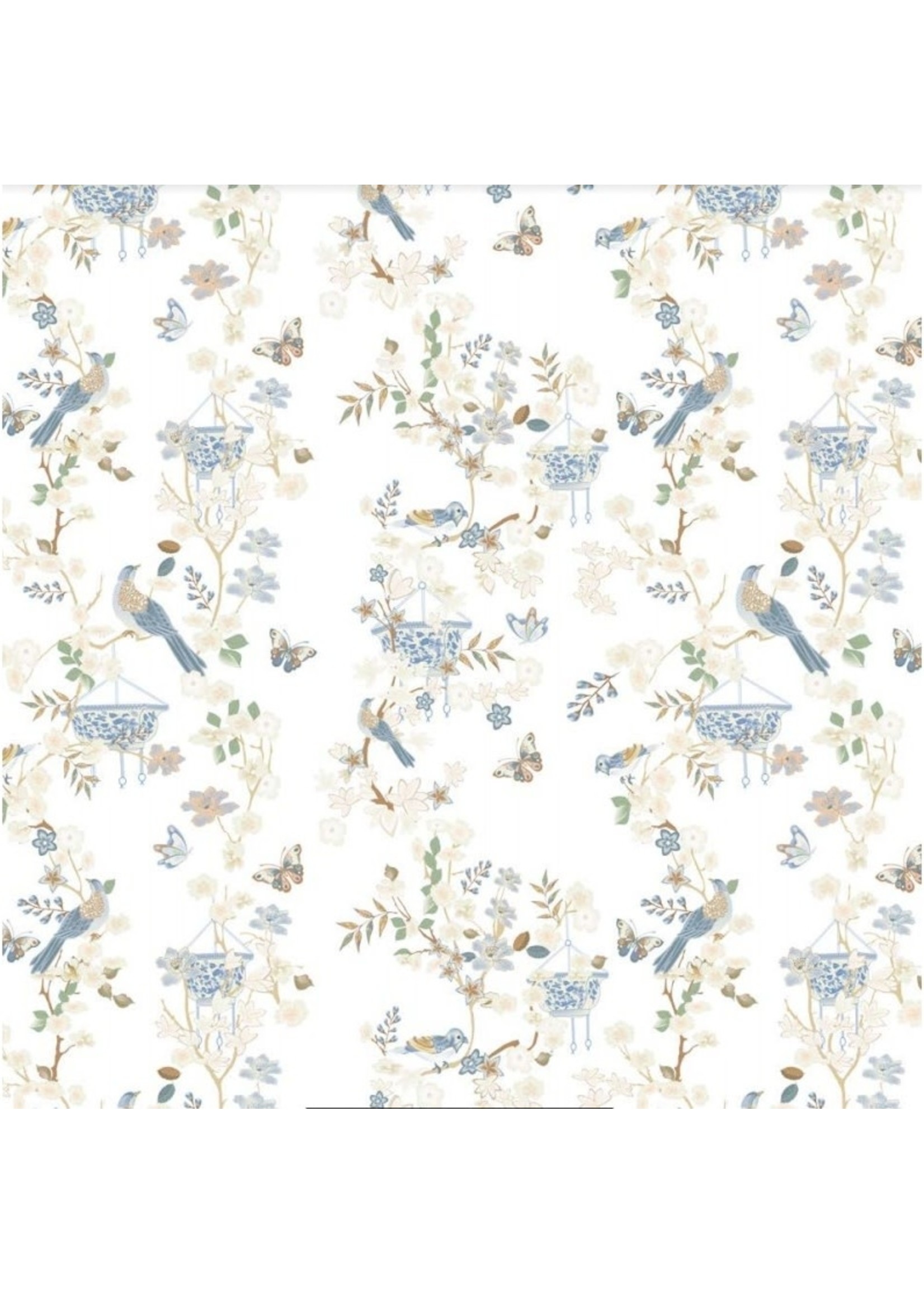 Gift Wrap - Ivory Chinoiserie (8' roll)