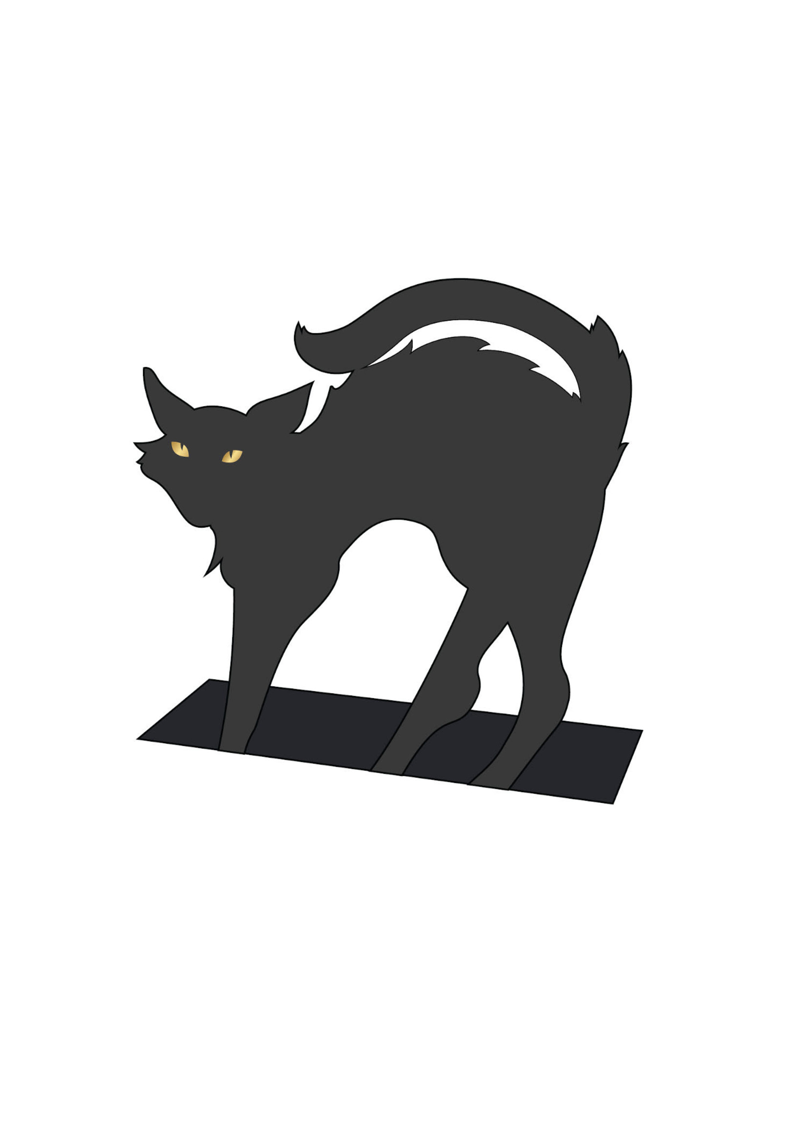 Hester & Cook Place Cards - Black Cat (pack of 12)