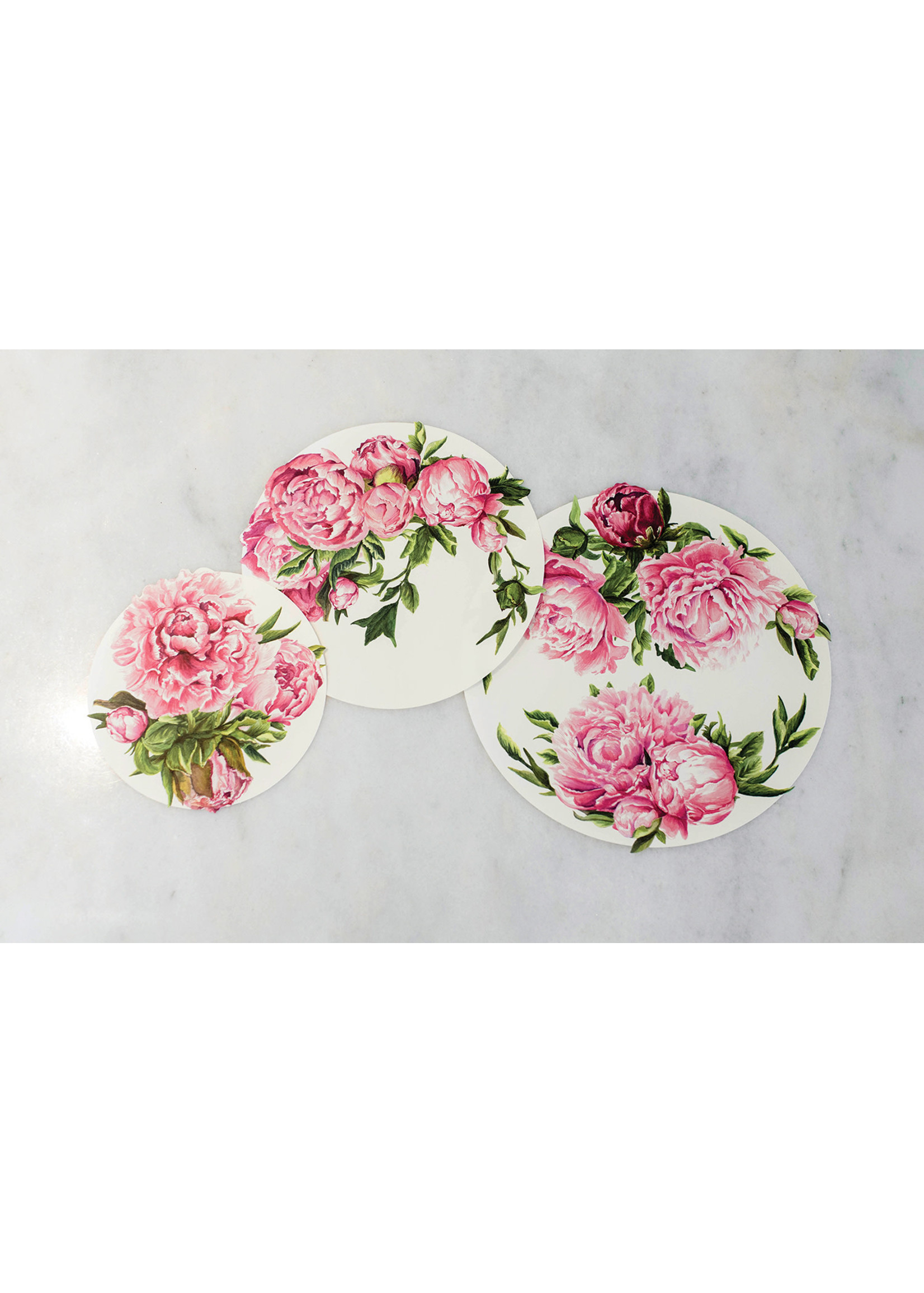 Hester & Cook Paper Serving Papers - Peonies (pack of 18)