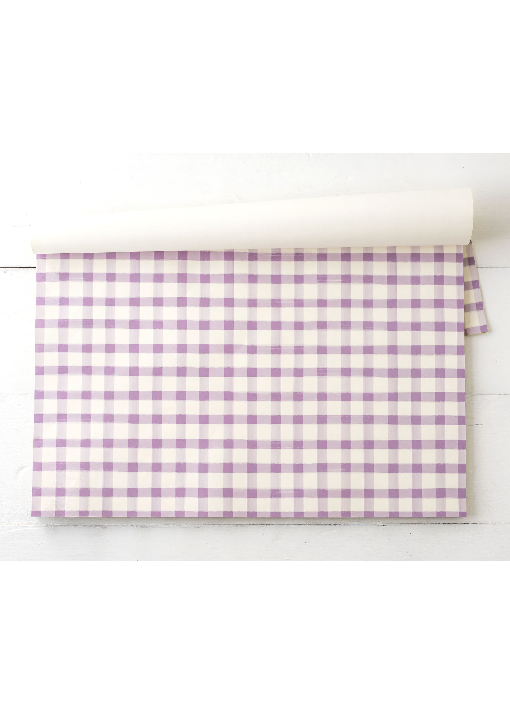 Hester & Cook Paper Placemats - Lilac Painted Check (24 sheets)