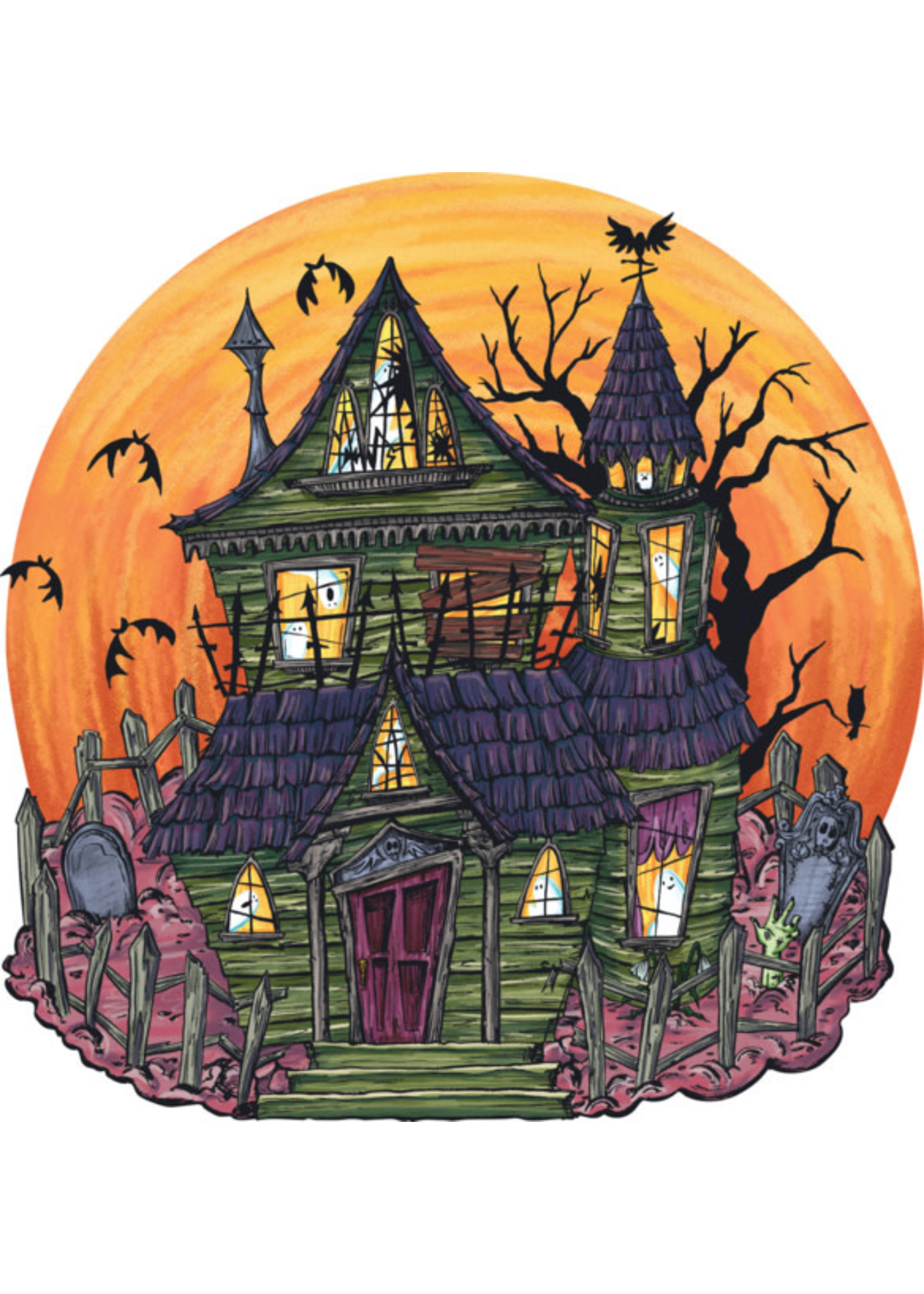 Hester & Cook Paper Placemats - Haunted House (12 sheets)