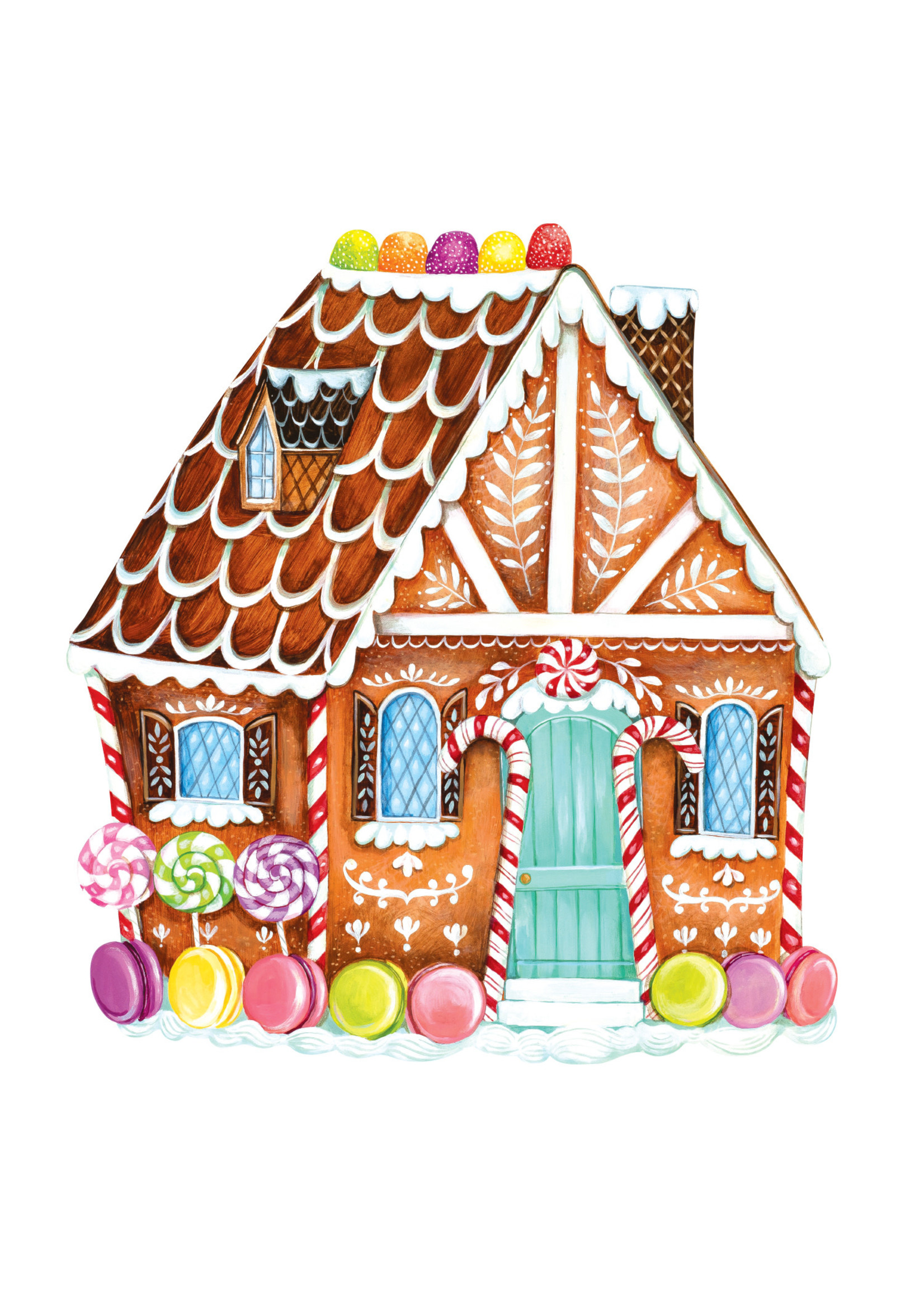 Hester & Cook Paper Placemats - Gingerbread House (12 sheets)
