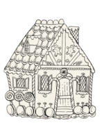 Hester & Cook Paper Placemats - Coloring Gingerbread House (12 sheets)