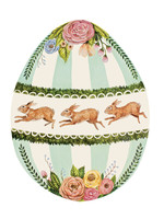 Hester & Cook Paper Placemats - Boxwood Bunny Egg (12 sheets)