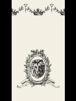 Hester & Cook Paper Guest Napkins - Majestic Crest (pack of 16)