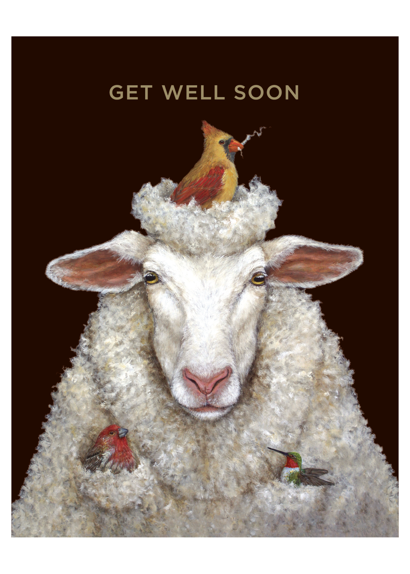 Hester & Cook Card - Get Well Sheep