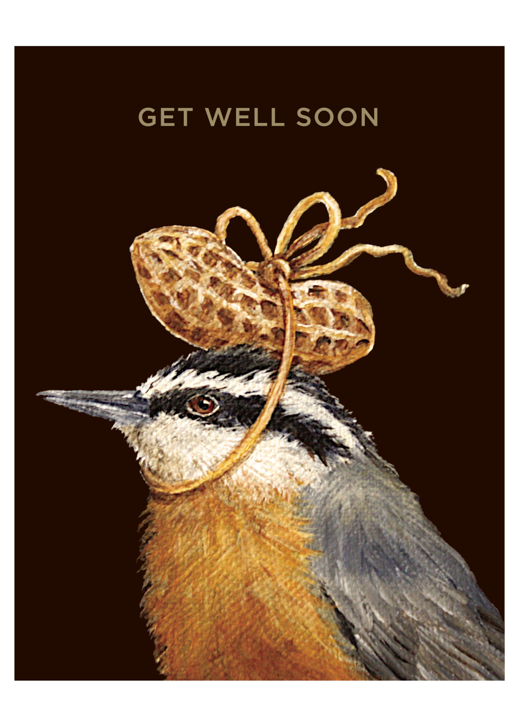 Hester & Cook Card - Get Well Peanut