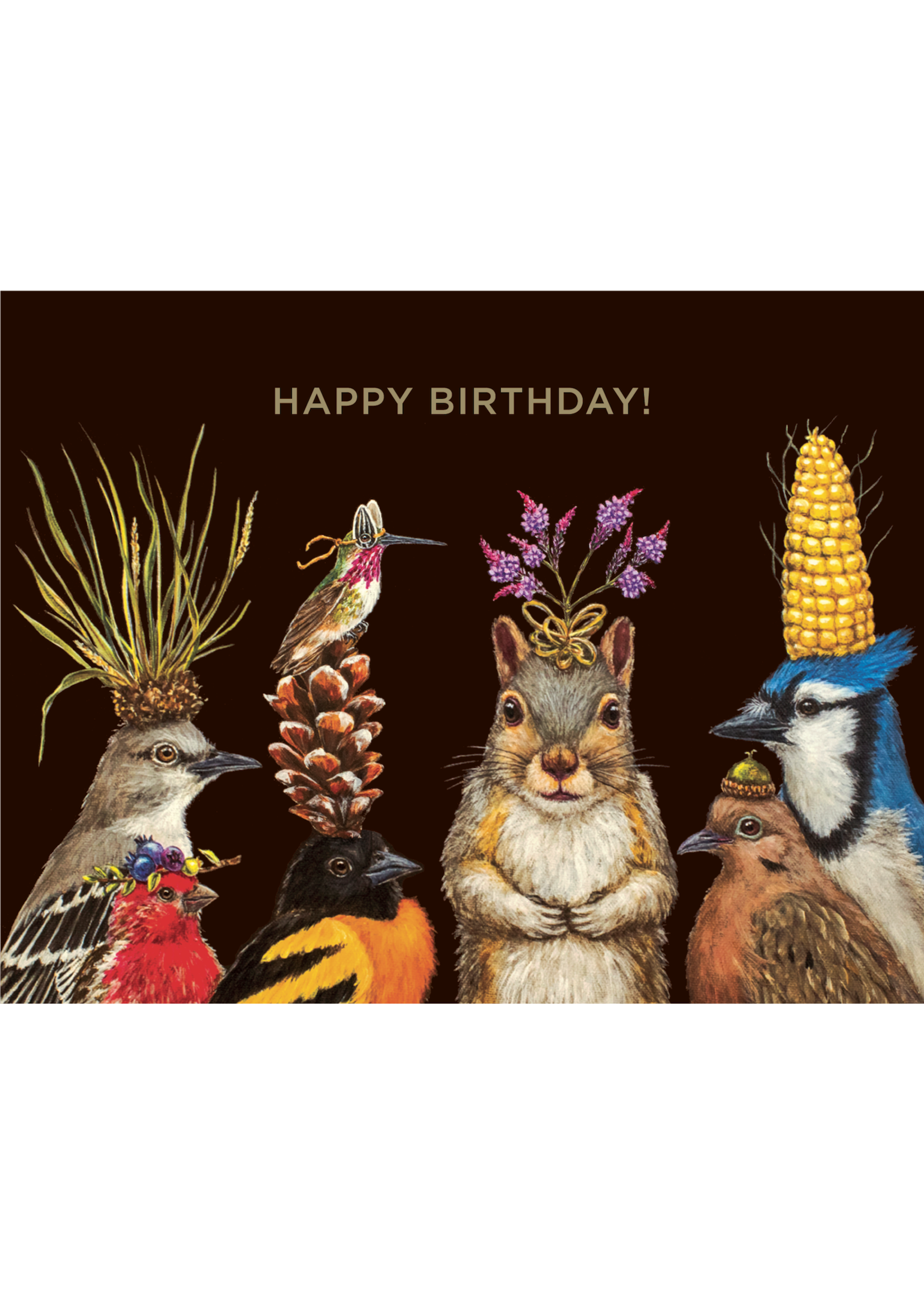 Hester & Cook Card - Birthday Squirrel & Friends